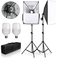 """YISITONG 20""""X28"""" Softbox Photography Lighting Kit 2X 25W Continuous Lighting System Photo Studio Equipment Photo Model…"""