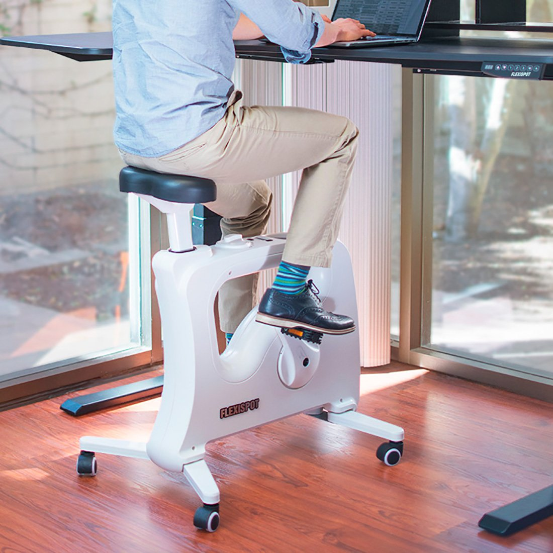 FLEXISPOT Home Office Under Desk Exercise Bike Height Adjustable Cycle - Deskcise Pro by FLEXISPOT (Image #1)