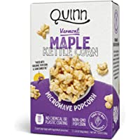 Quinn Microwave Popcorn - Made with Organic Non-GMO Corn - Great Snack Food for Movie Night - Vermont Maple & Sea Salt, 7 Ounce