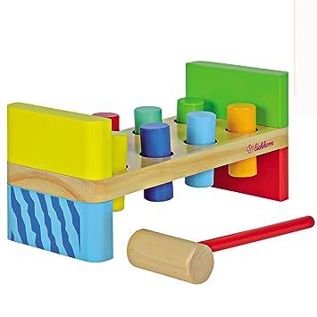 Eichhorn Color Xylophon Klopfbank Klopfspiel Hammerspiel Motorik Musik Spielzeug Holzspielzeug