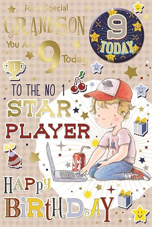 Cards Galore Online Nieto 9th Tarjeta de cumpleaños y placa ...