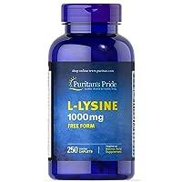 Puritan's Pride L-Lysine 1000 mg-250 Caplets (6013)
