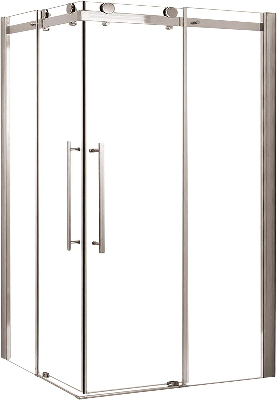 Mampara de Ducha Rectangular MIRAGE. Con Rodamientos en Acero Inoxidable. Cristal Transparente. (140x70x190 cm): Amazon.es: Bricolaje y herramientas