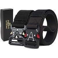 Cinturón táctico, cinturón de Nailon de Estilo Militar Resistente con Hebilla de liberación rápida para Hombres, Mujeres…