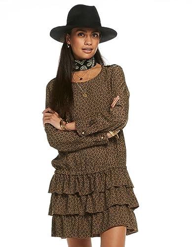 Drop waist dress by Maison Scotch (M - Brown)