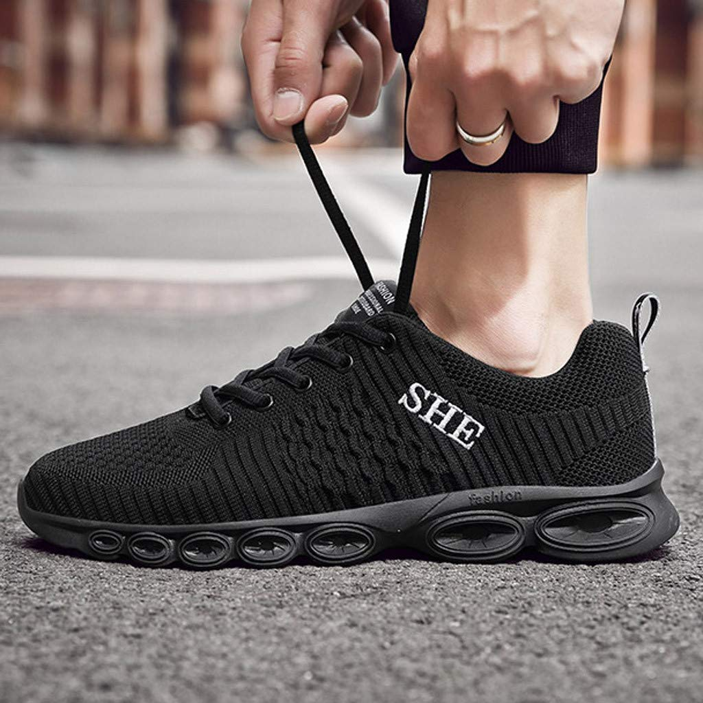 iYBUIA 2019 Mens Shoes Breathable Summer Casual Shoes Lovers Shoes Couple Fashion Lace Mens Mesh Shoes Large Size