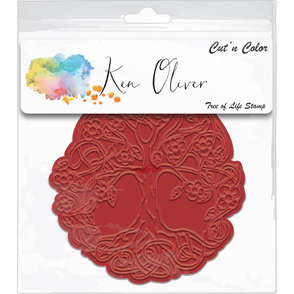 Ken Oliver Cut N Color Cling Stamp-Tree Of Life