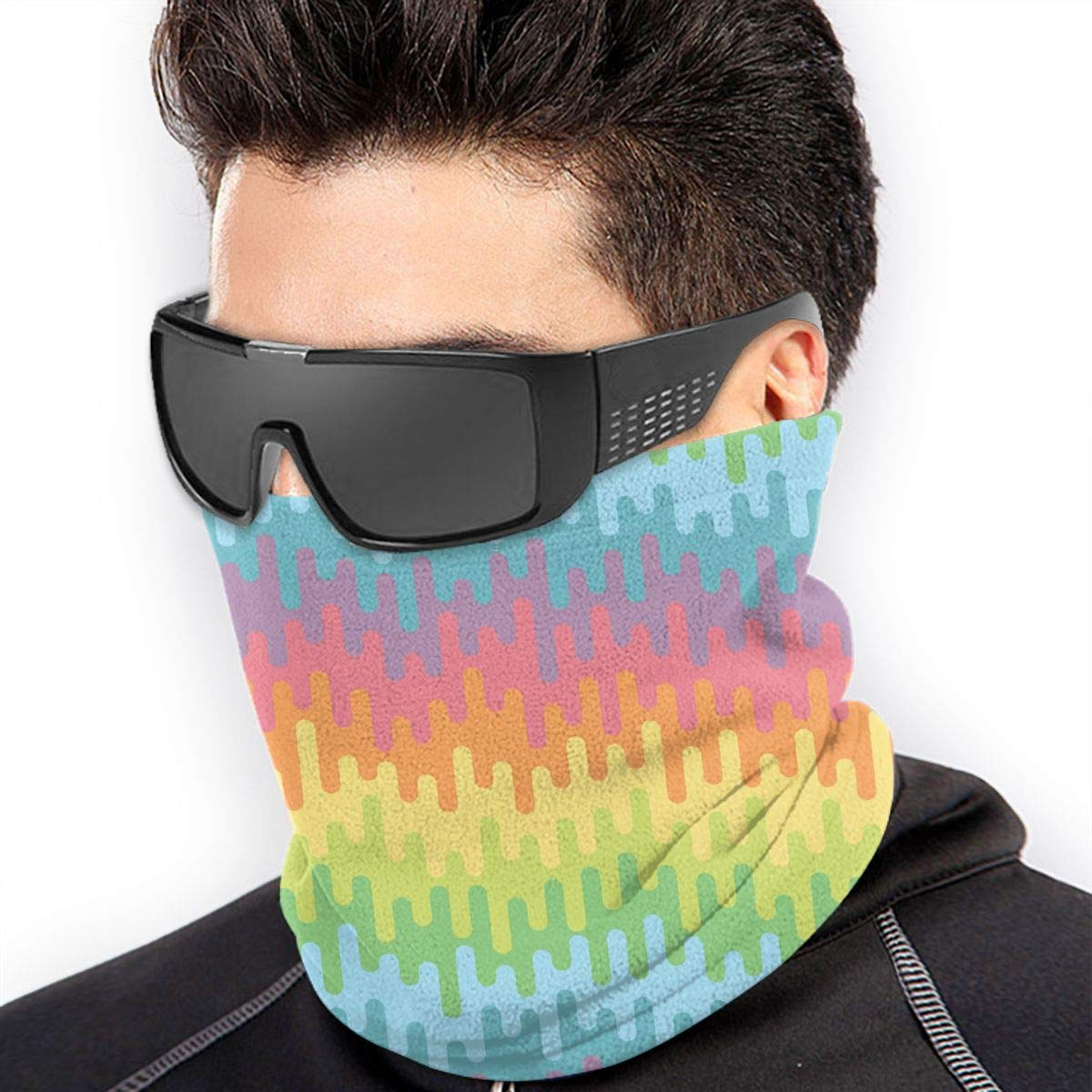 Windproof Ski Motorcycle Mask Curved Across Lines Printed Neck Warmer Gaiter Headwear Multifunctional Head Scarf