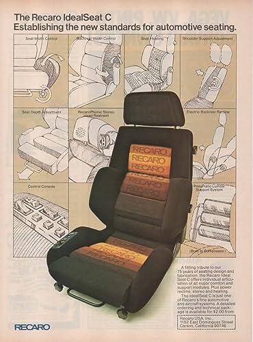 Amazon.com: Magazine Print Ad: 1978 Recaro IdealSeat C ...