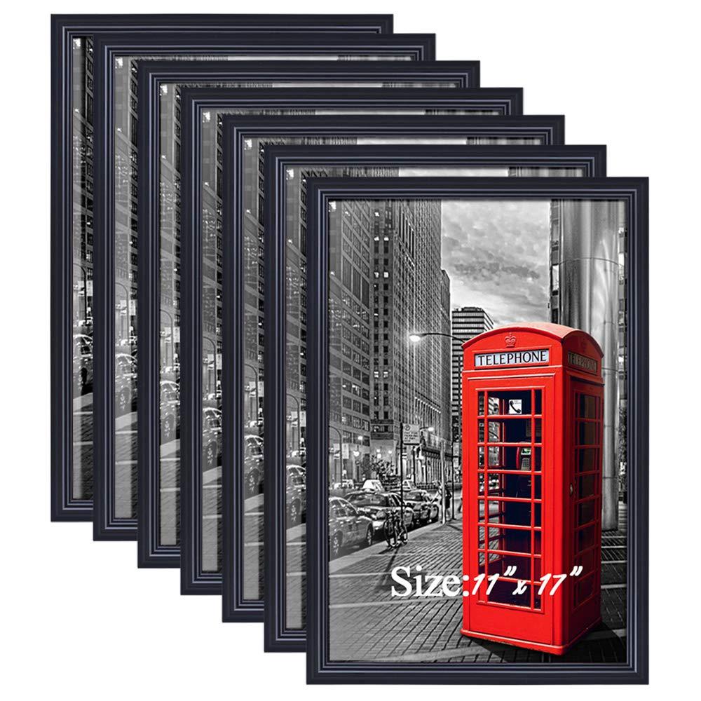 PETAFLOP 11x17 Frame Black Poster Frame for 11x17 Picture, Pack of 7