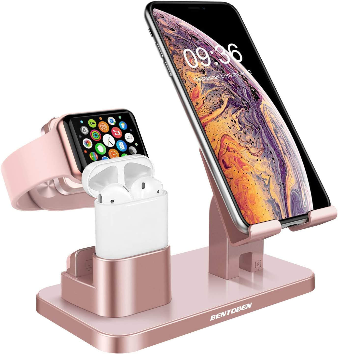 Amazon Com Bentoben 3 In 1 Charging Stand Universal Charging Dock Station For Airpods 2 1 Apple Watch Series 6 5 4 3 2 1 Iphone 12 11 Pro Se 2020 Xs Max Xr X 8 7 6 Plus Android Smartphone