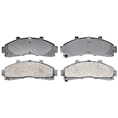 ACDelco 14D652M Advantage Semi-Metallic Front Disc Brake Pad Set with Wear Sensor: Automotive
