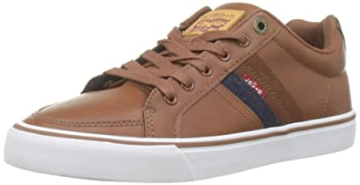 e7b1d4b2db5e83 LEVIS FOOTWEAR AND ACCESSORIES Turner, Baskets Hommes, Marron (Brown 28), 40