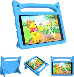New iPad 10.2 2019 Kids Case, DJ&RPPQ iPad 7th Generation Kids Friendly Cases with Handle Stand, Light Weight Shock Proof Covers for Apple iPad 10.2 inch Latest Model - Blue