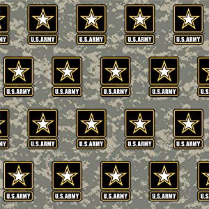 GRAPHICS & MORE U.S. Army Logo on Camo Premium Roll Gift Wrap Wrapping Paper