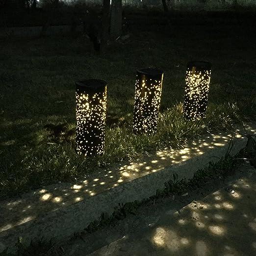 LEDMOMO Iluminación solar del camino del jardín Iluminación exterior de la seguridad Iluminación del patio del decking Iluminación impermeable del paisaje del LED: Amazon.es: Iluminación