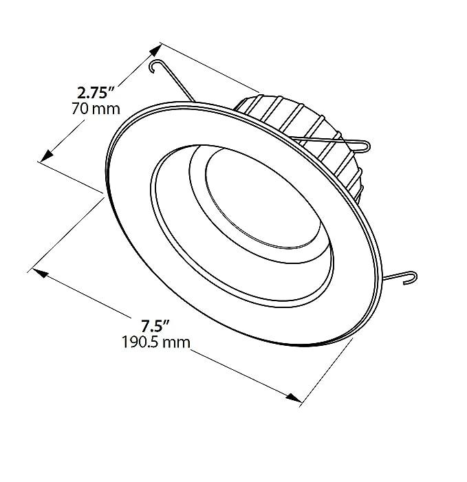 Amazon Com Nicor Lighting 56 Inch Dimmable 900 Lumen 5000k Led
