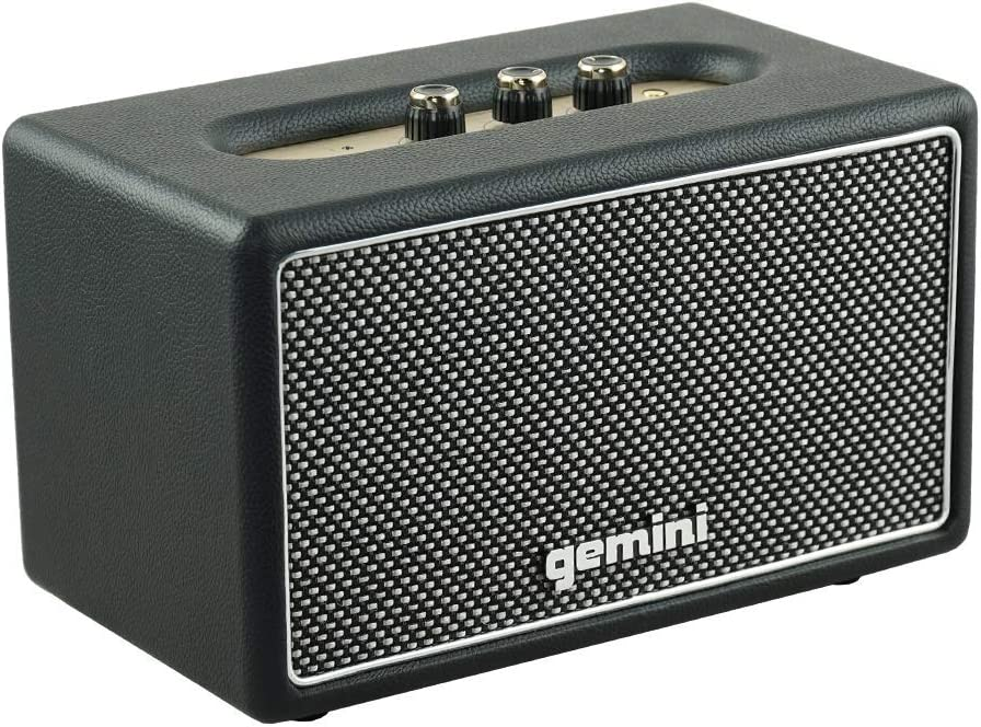 Gemini GTR-300 Portable Retro Bluetooth Speaker Wireless Vintage 60W Speaker for Home and Outdoor Use