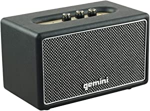Gemini GTR-200 Portable Retro Bluetooth Speaker, Wireless Vintage 45W Speaker for Home and Outdoor Use