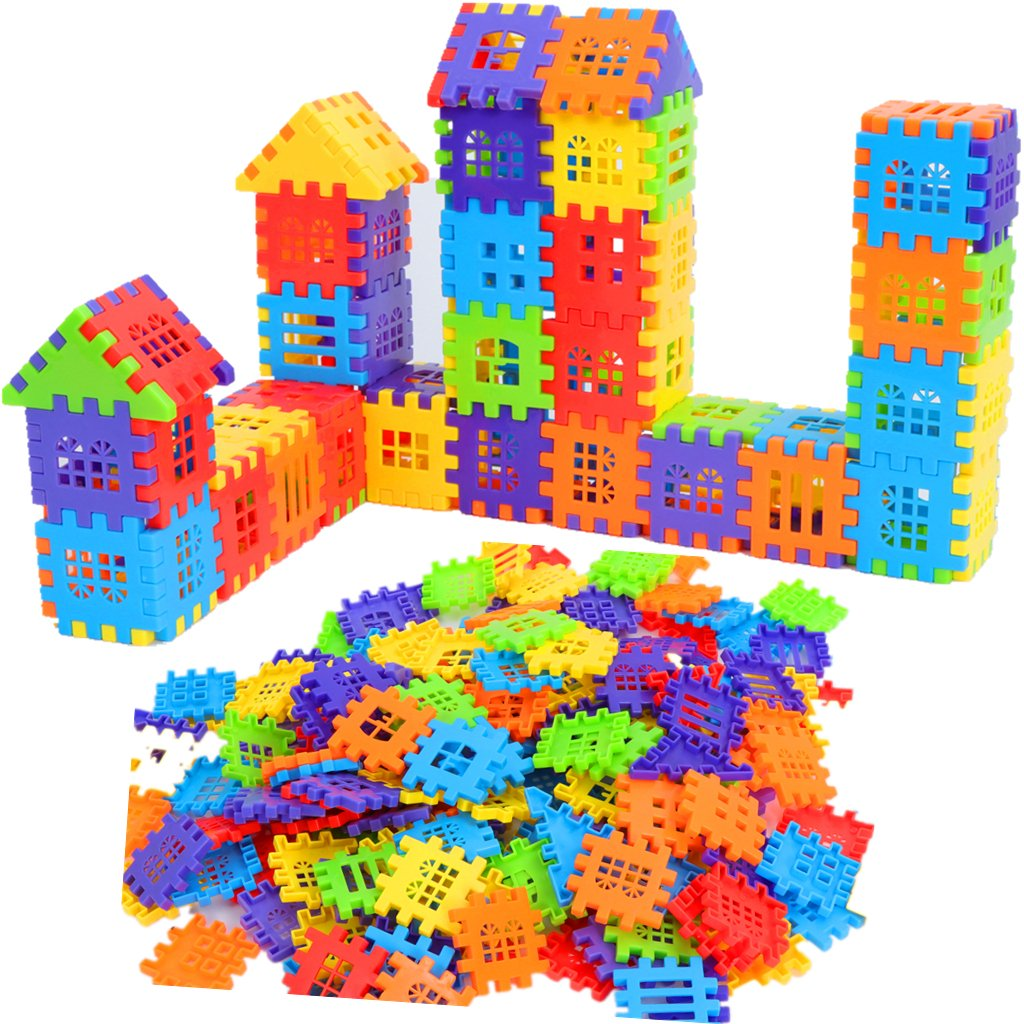 ZHONGKE Interlocking Builders Blocks Play Set for kids ,Big Building Bag,Bricks House Building Blocks Review
