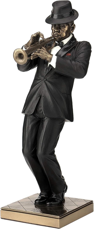Trumpet Player Statue Sculpture Figurine - Jazz Band Collection
