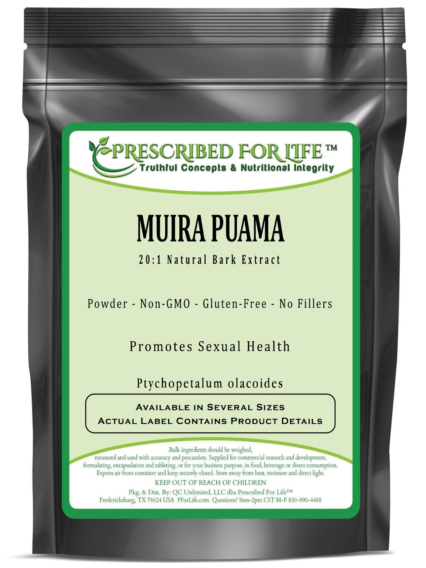 Muira Puama - 20:1 Natural Bark Powder Extract (Ptychopetalum olacoides), 5 kg