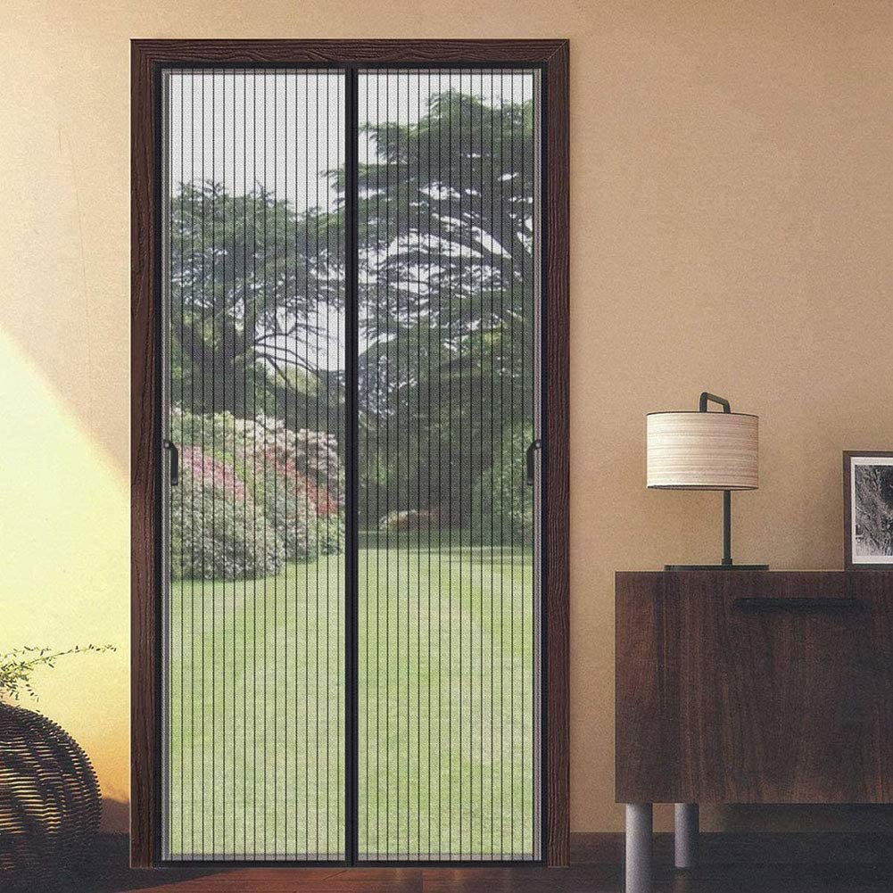Magnetic Screen Door Keep Insects Out Mosquito Screen Mesh Curtain Easy to Install Without Drilling Magnetic Fly Screen Door for Balcony Sliding Living Room Childrens Room
