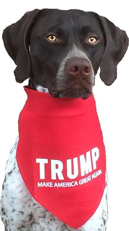 Amazon.com   BANDANA - TRUMP for medium to large dogs Red   Pet Supplies 809890e4e