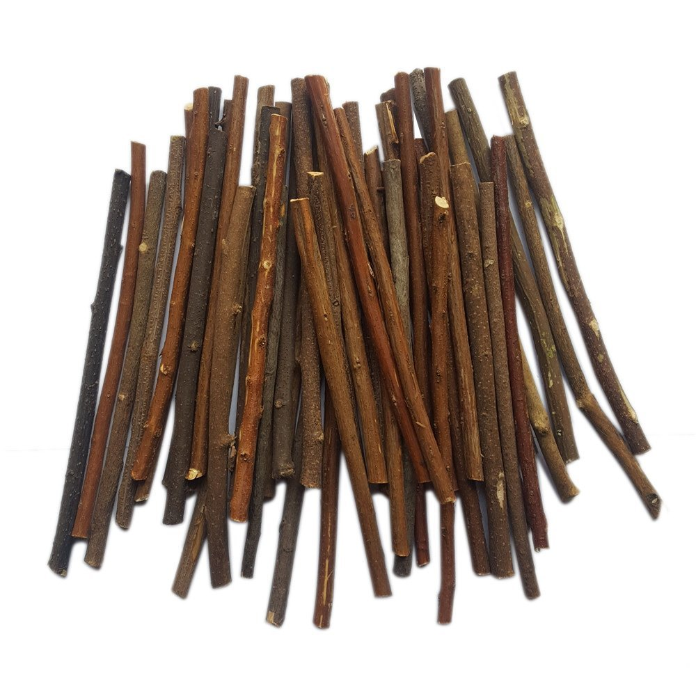 MAIYUAN 5 Inch Long 0.1 0.2 Inch in Diameter Wood Log Sticks for DIY Crafts Photo Props 100pcs