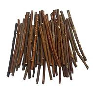 MAIYUAN 5 Inch Long 0.1-0.2 Inch in Diameter Wood Log Sticks for DIY Crafts Photo Props (100pcs)