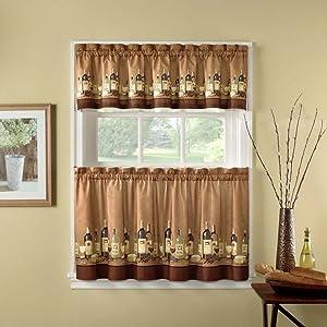CHF Industries Wines Kitchen Curtain Set