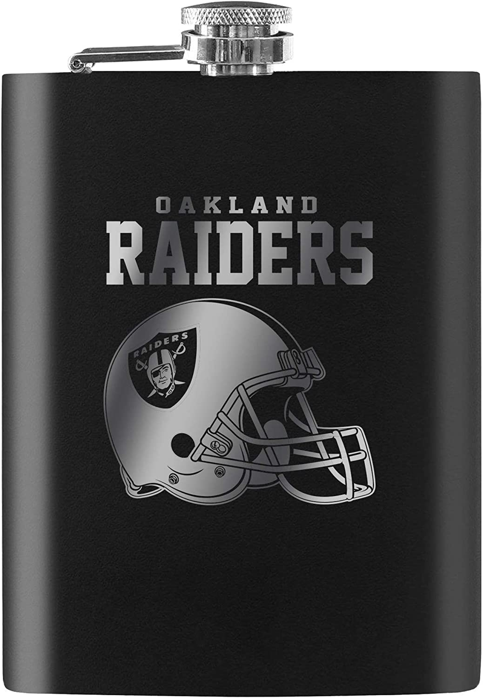 Las Vegas Raiders Laser Etched 8oz Flask