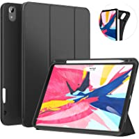 Ztotop Case for iPad Pro 11 Inch 2018 with Pencil Holder- Lightweight Soft TPU Back Cover and Trifold Stand with Auto Sleep/Wake,Support 2nd Gen Apple Pencil Charging, Black