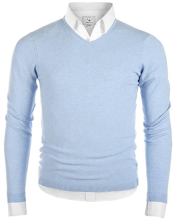 pullover para hombre cuello en V - color azul clarohttps://amzn.to/2Qe1OIV
