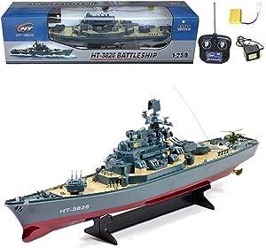 RC Ht Radio Control Rc Battle Warship Boat Cruiser Destroyer, 23-Inch