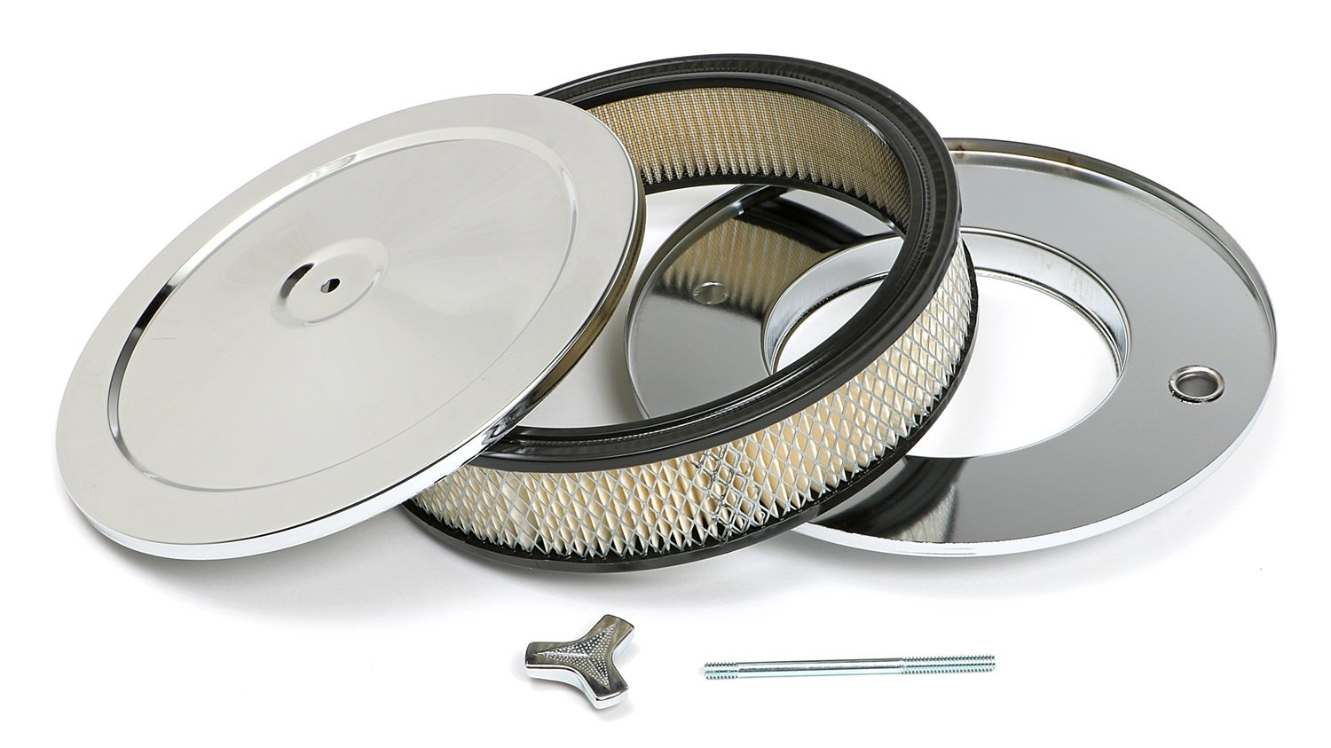 Trans-Dapt 2282 Chrome 10' Muscle Car Style Air Cleaner Set Trans-Dapt Performance
