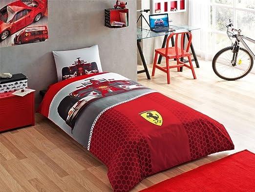 Copripiumino Ferrari.Ferrari F1 Single Twin Duvet Cover Set Bedding Bed Linen Licensed