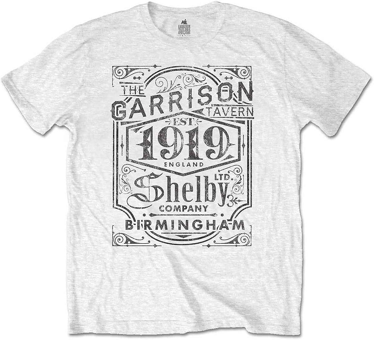 Peaky Blinders Mens tee: Garrison Pub Camiseta, Blanco ...
