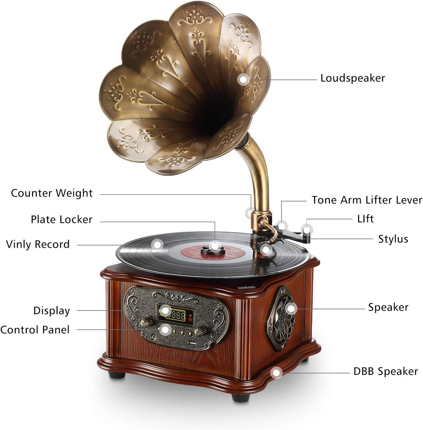 Amazon.com: LuguLake - Reproductor de grabación, Bluetooth ...
