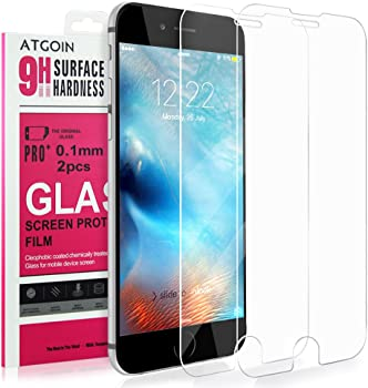 2-Pk. ATGOIN Tempered Glass Screen Protector for iPhone 6S