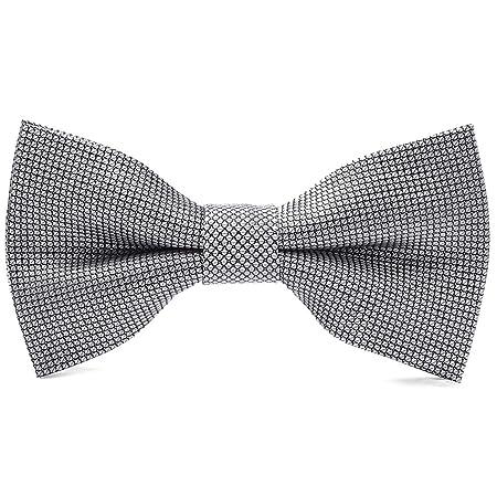 YXN Corbata de Lazo Negra Negra de los Hombres de la Camisa del ...