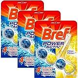 Bref Power Activ' Bloc Nettoyant WC Citron 50 g - Lot de 3