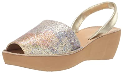 f1b1e2d84a57 Kenneth Cole REACTION Women s Fine Glass Platform Sandal Wedge