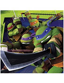 20 servilletas Tortugas Ninja: Amazon.es: Juguetes y juegos