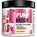 Evlution Nutrition Pump Mode Nitric Oxide Booster to Support Intense Pumps, Performance and Vascularity, 30 Servings (Pink Lemonade)