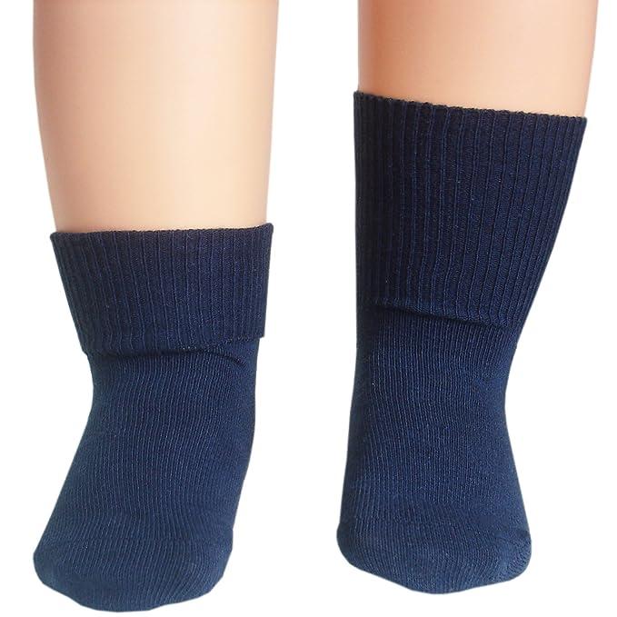 JHosiery Bebé niños calcetines puntera sin costura para pies sensibles (12-24M/19-22, 3 pares mezclan #2): Amazon.es: Ropa y accesorios