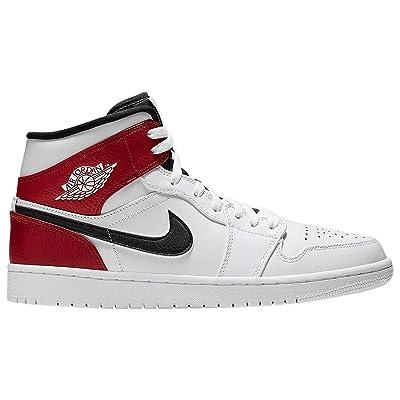 Men's Air Jordan 1 M - 554724-116 White/Black-Gym Red   Shoes