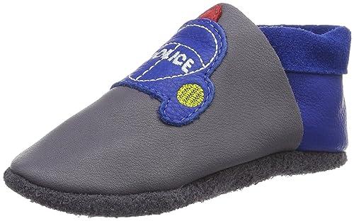 PololoPololo Polizei - Patucos y Zapatillas de Estar por casa Bebé-Niñas, Color Gris, Talla 28/29: Amazon.es: Zapatos y complementos