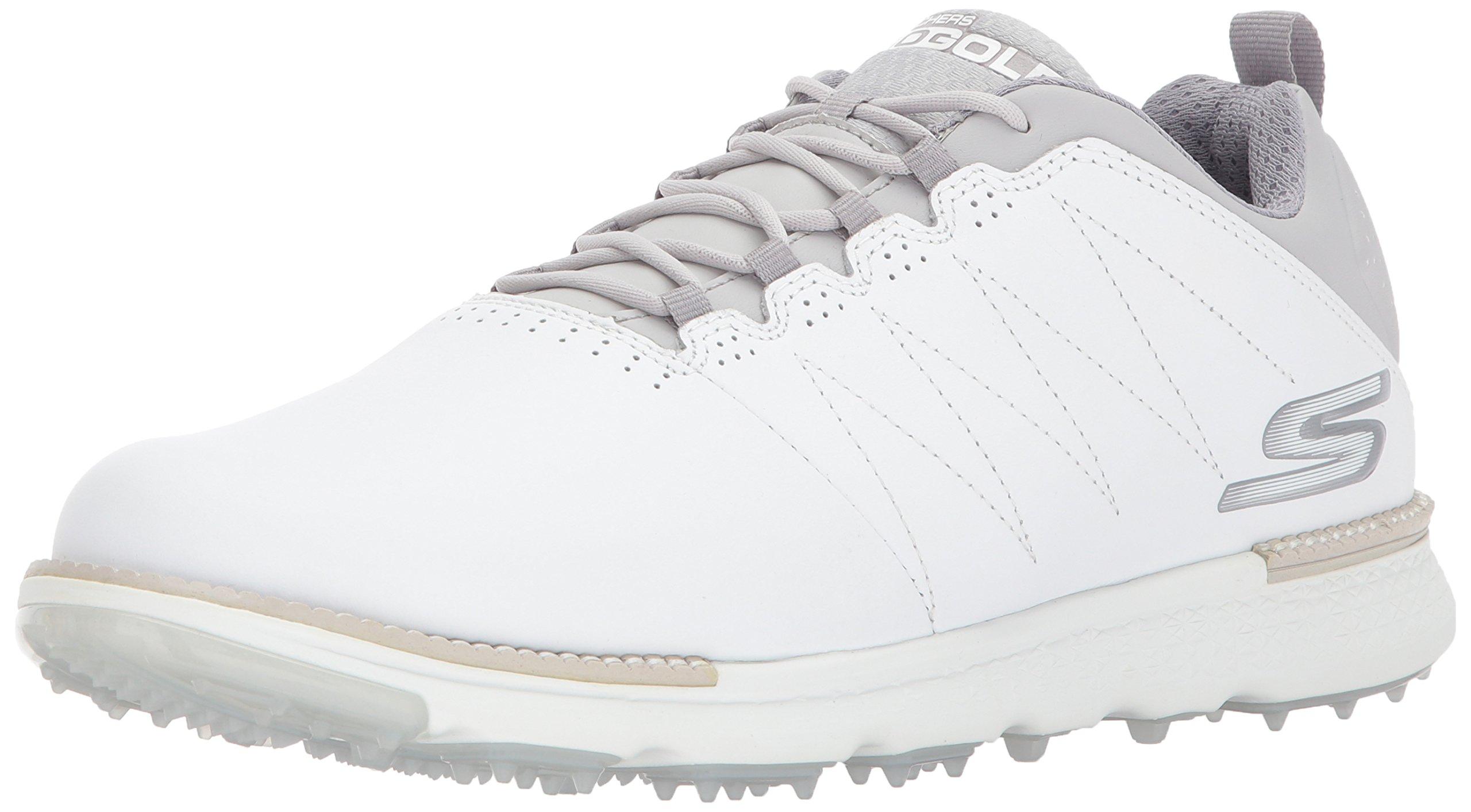 Skechers Men's Go Golf Elite 3 Golf Shoe,White/Gray,7.5 M US