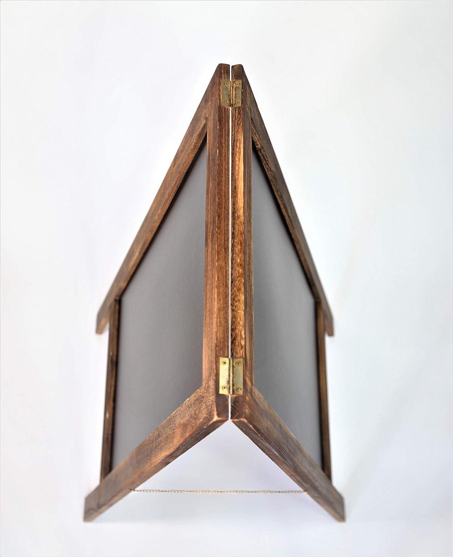 Amazon.com: Señal de pizarra rústica con marco en forma de A ...